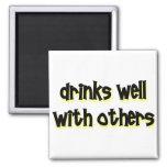 Bebidas bien con otras imán
