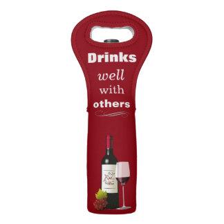 Bebidas bien con otras tote del vino bolsas para botella de vino