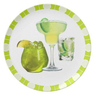 Bebidas de la cal plato para fiesta