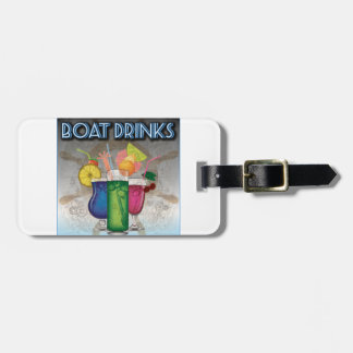 Bebidas del barco etiqueta de equipaje