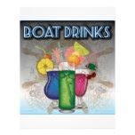 Bebidas del barco plantillas de membrete