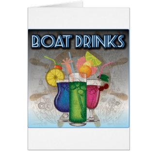 Bebidas del barco tarjeta