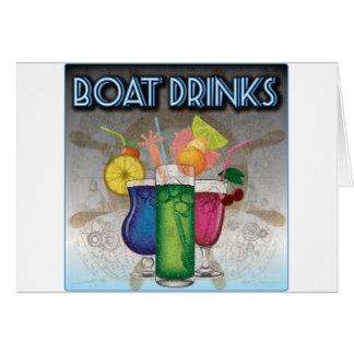 Bebidas del barco felicitación