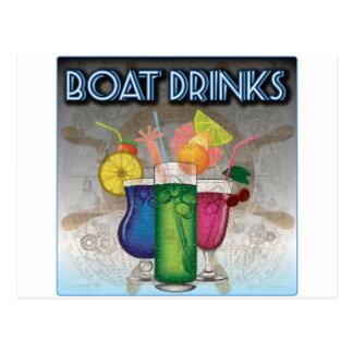Bebidas del barco postales