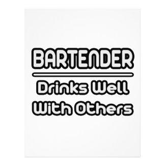 Bebidas del camarero… bien con otras tarjetón