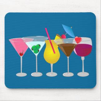 Bebidas del fiesta alfombrilla de ratón