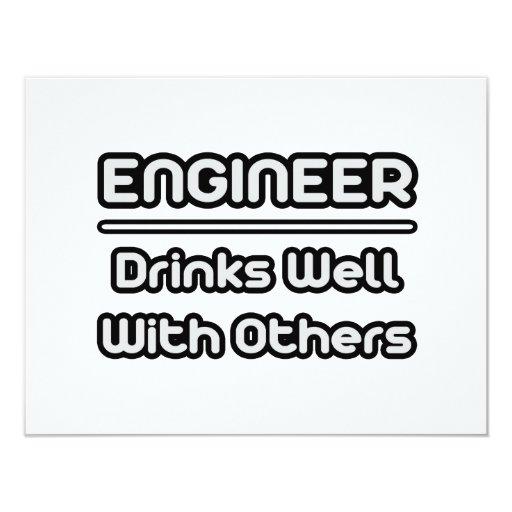 """Bebidas del ingeniero… bien con otras invitación 4.25"""" x 5.5"""""""