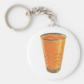 Bebidas del vintage, vidrio del desayuno del zumo llavero redondo tipo chapa