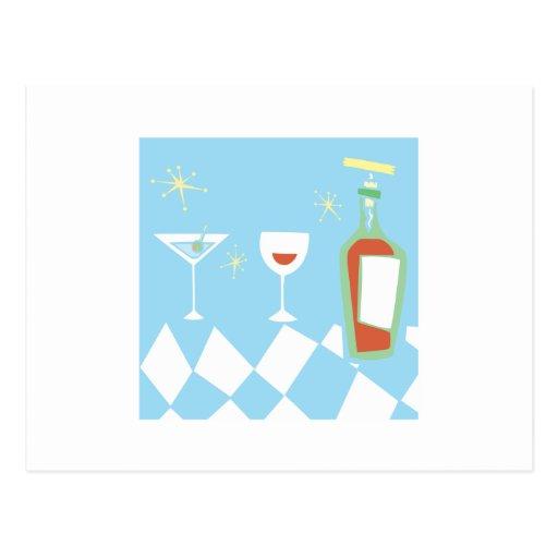 Bebidas diseñadas retras postales