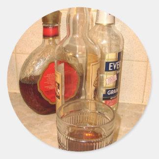 bebidas en mí pegatinas pegatinas redondas