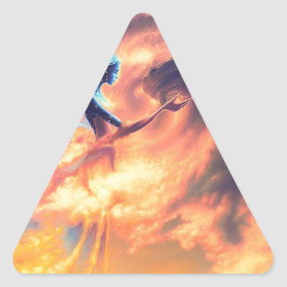 Bebidas espirituosas abstractas de la fantasía de calcomanía triangulo personalizadas