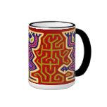 Bebidas espirituosas ancestrales tribales tazas de café