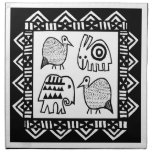 Bebidas espirituosas animales africanas servilletas de papel