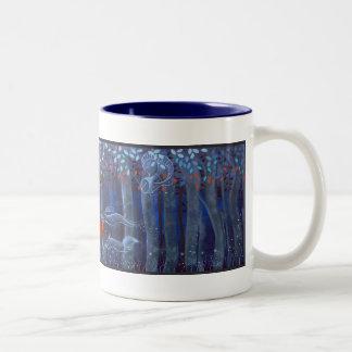 Bebidas espirituosas animales de la mujer y del bo tazas de café