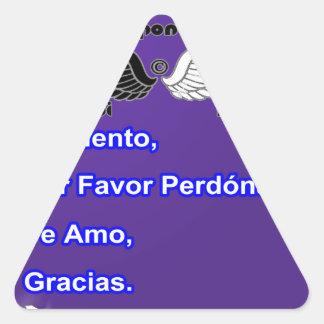 BEBIDAS ESPIRITUOSAS DE HO OPONOPONO PRODUCTOS AD PEGATINAS DE TRIANGULO PERSONALIZADAS