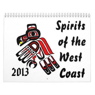 Bebidas espirituosas de la costa oeste   2013 calendario de pared