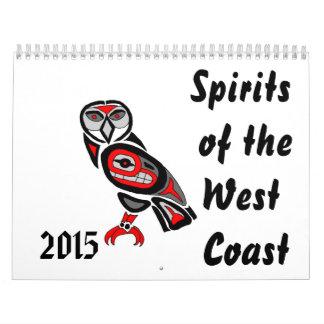 Bebidas espirituosas de la costa oeste 2015 calendarios