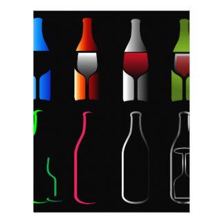 Bebidas espirituosas de las botellas y de los membretes personalizados