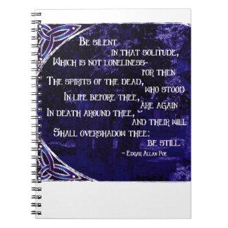 Bebidas espirituosas de los muertos en violeta libretas