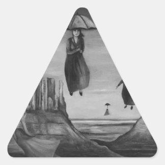Bebidas espirituosas de los paraguas 2 BW del vuel Pegatina De Triangulo Personalizadas