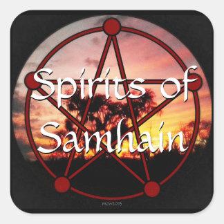 Bebidas espirituosas de Samhain (LG.) * Pegatina Cuadrada