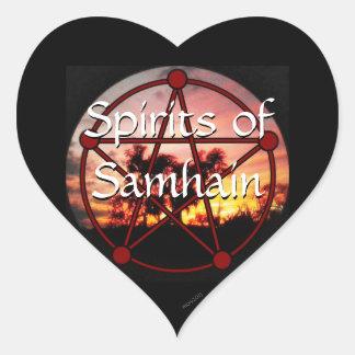 Bebidas espirituosas de Samhain Pegatina En Forma De Corazón