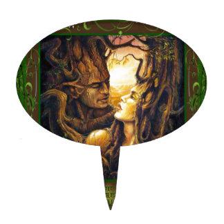 Bebidas espirituosas del bosque figuras de tarta