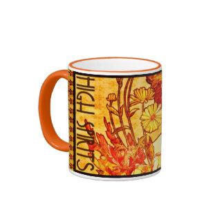 Bebidas espirituosas del café de Alfonso Mucha del Taza A Dos Colores
