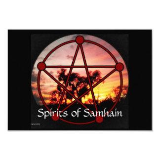 """Bebidas espirituosas del pentáculo de Samhain Invitación 3.5"""" X 5"""""""