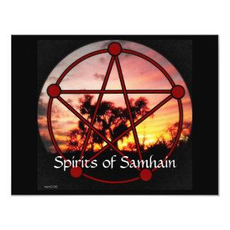 """Bebidas espirituosas del pentáculo de Samhain Invitación 4.25"""" X 5.5"""""""