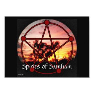 """Bebidas espirituosas del pentáculo de Samhain Invitación 4.5"""" X 6.25"""""""