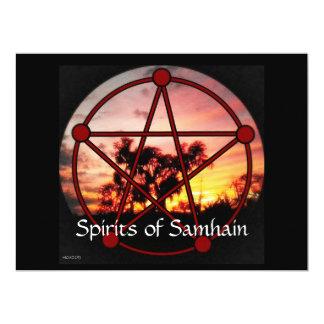"""Bebidas espirituosas del pentáculo de Samhain Invitación 6.5"""" X 8.75"""""""