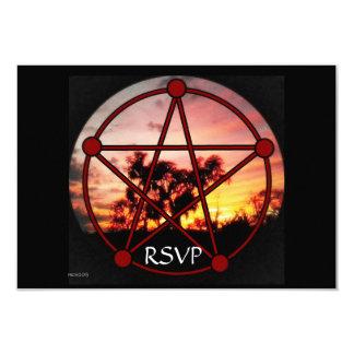 """Bebidas espirituosas del pentáculo RSVP de Samhain Invitación 3.5"""" X 5"""""""