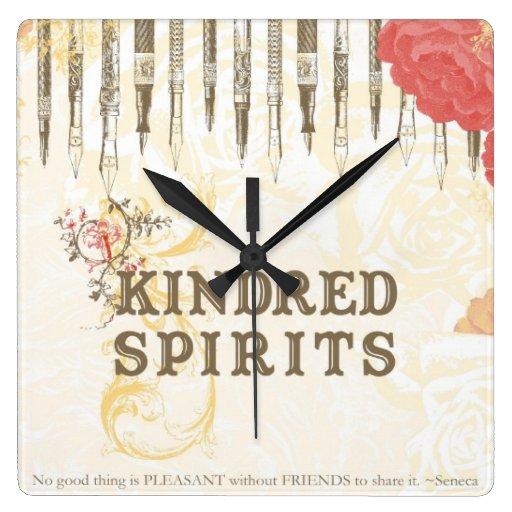 Bebidas espirituosas emparentadas reloj cuadrado