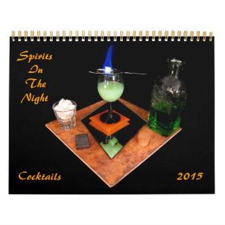Bebidas espirituosas en la noche calendarios