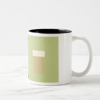 Bebidas populares taza dos tonos