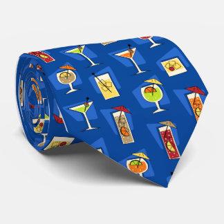 Bebidas tropicales hawaianas retras de la hora corbata personalizada