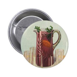 Bebidas y bebidas, jarra del vintage de té helado chapa redonda 5 cm