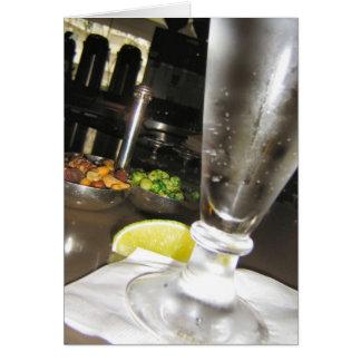 Bebidas y nueces tarjeta de felicitación