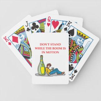 bebido baraja cartas de poker