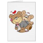 bebido con los osos lindos del boda del amor felicitacion