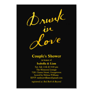 Bebido en la invitación de la ducha del par del