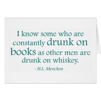 Bebido en los libros tarjeta de felicitación