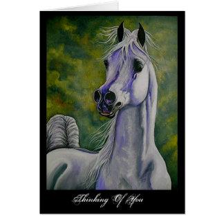"""""""Bebiendo tarjeta árabe del caballo del viento"""""""