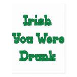 Bebieron a los irlandeses sus tarjeta postal