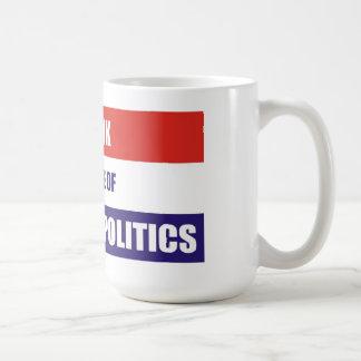 Bebo debido a política americana taza clásica