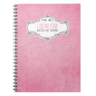 """""""Bebo diario de la pérdida de peso del rosa"""" Cuaderno"""