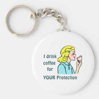 Bebo el café llaveros personalizados