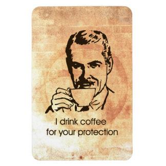 Bebo el café para su protección imán foto rectangular