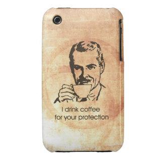 Bebo el café para su protección iPhone 3 funda